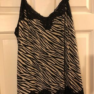 Lane Bryant lace trimmed cami
